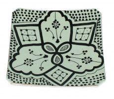 Marokkaanse serveerschaal vierkant 22cm zwart-wit 2 360 GR
