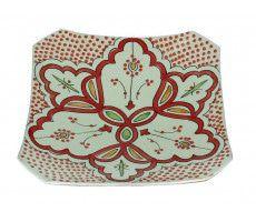 Marokkaanse serveerschaal vierkant 27cm rood 540 GR