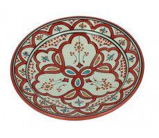 Marokkaanse serveerschaal rond 22cm rood 500 GR
