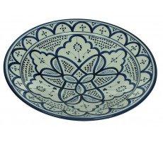 Marokkaanse serveerschaal rond 35cm blauw 1370 GR
