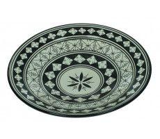 Marokkaanse serveerschaal rond 35cm zwart-wit 3 1370 GR