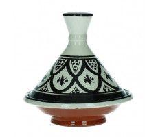 Marokkaanse tajine 13cm zwart-wit 1 220 GR