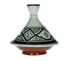 Marokkaanse tajine 13cm zwart-wit 2 220 GR