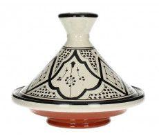 Marokkaanse tajine 22cm zwart-wit 2 450 GR