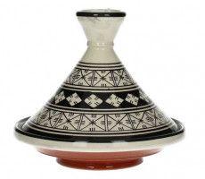 Marokkaanse tajine 22cm zwart-wit 3 450 GR