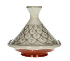 Marokkaanse tajine 22cm grijs-wit 450 GR
