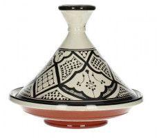Marokkaanse tajine 27cm zwart-wit 2 820 GR