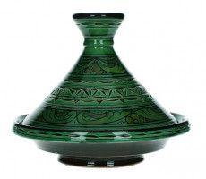 Marokkaanse tajine gegraveerd 22cm groen 450 GR