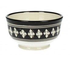 Marokkaanse soepkom 14cm  zwart-wit 3 260 GR