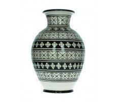Marokkaanse vaas 33cm  zwart-wit 3 2470 GR