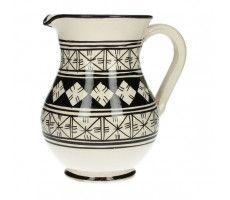 Marokkaanse kan zwart-wit 1,2 liter